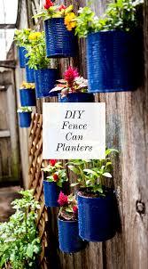 Backyard Tin Can Fence Garden Ciera Design Studio