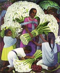 the flower seller by diego rivera