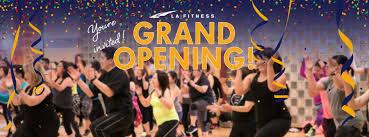 la fitness grand opening party schedule