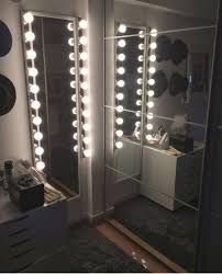 standing hollywood lights floor mirror