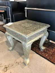 silver embossed table form function