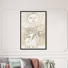 Shop Oliver Gal The Sun Tarot Luxe Astronomy And Space Framed Wall Art Prints Zodiac Gold White Overstock 31287502