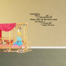 Wall Decal Quote Sometimes The Smallest Things Take Up The Most Room In Your Heart Winnie The Pooh Decor Inspirational Vinyl Sticker Jp815 Walmart Com Walmart Com
