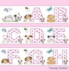 Bumble Bee Wallpaper Border Wall Art Decals Baby Girl Nursery Kids Room Stickers