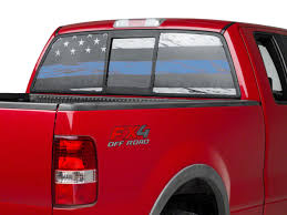 Sec10 F 150 Perforated Real Flag Rear Window Decal W Blue Line T540056 97 20 F 150