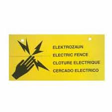 Warning Signs For Electric Fences Electric Fencing