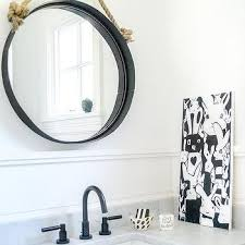 rope hanging convex bathroom mirror
