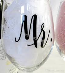 Mr And Mrs Wine Glasses Sticker Newlyweds Engagement Wedding Gift Champagne Glass Decal Copas De Vino Sticker Kids Wall Stickers Removable Kitchen Wall Decals From Joystickers 13 39 Dhgate Com