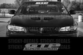 Pontiac Grand Prix Gtp Supercharged Decal Windshield Banner Window Sticker Ebay