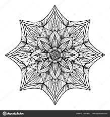 Mooie Deco Bloemen Mandala Vector Ronde Ornament Patroon Grote