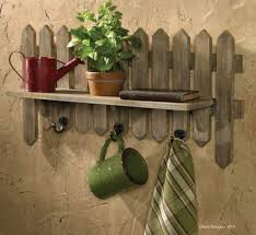 Picket Fence Wall Shelf Hanger Herb Garden Park Designs Fence Decor Picket Fence Decor Country Wall Decor