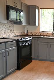 black appliances and white or gray