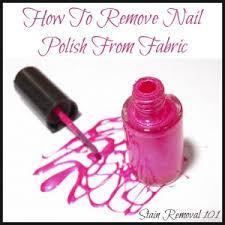 remove nail polish from fabric clothing