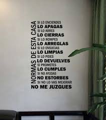 spanish version house rules vinyl wall decals family quotes wall