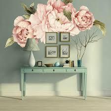Giant Pink Peony Flower Wall Stickers Nursery Home Decor Kid Baby Decal Gift Diy Ebay
