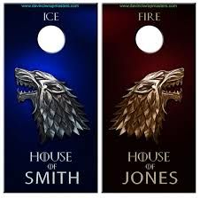 Stark Fire Ice Cornhole Vinyl Decal Wrap Set Davinciwrapmasters