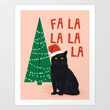 christmas xmas tree holiday funny cat