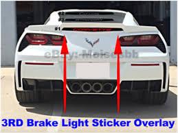 Corvette Stingray 3rd Third Brake Light Vinyl Decal Sticker 14 15 16 17 18 2019 Ebay