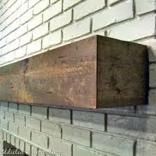rough hewn wood diy fireplace mantel