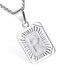 womens mens chain initial letter a to z
