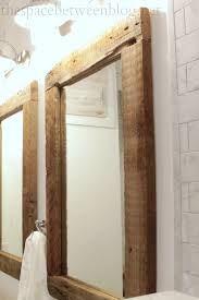 diy reclaimed wood frames wood framed