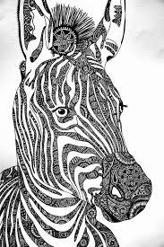 Pin Van Barbara Op Coloring Horse Zebra Zebra Tekening Dieren