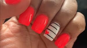 acrylic nails cute short summer design