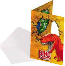 Juego De 12 Piezas De Invitaciones Cumpleanos De Dinosaurio T Rex