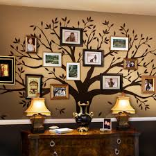 Family Tree Wall Decal Brown 107 W X 90 H Inches Standard Walmart Com Walmart Com