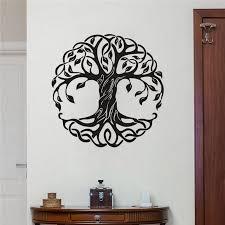 Mandala Circle Trees Vinyl Wall Decals Home Decor Fitness Yoga Tree Wall Sticker Tree Of Life Yoga Studio Wall Murals Wl1412 Wall Stickers Aliexpress