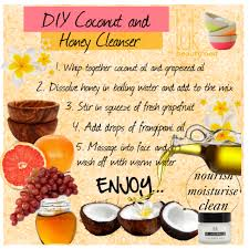 coconut oil and honey cleanser diy