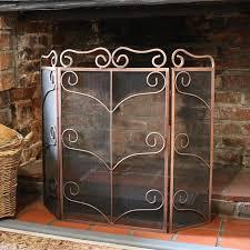 fire screen traditional mesh black
