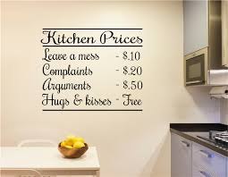 Kitchen Prices Kitchen Decor Vinyl Decal Wall Stickers Letters Words