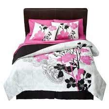 black and pink bedding girl