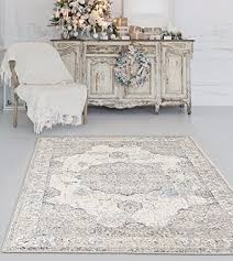 distressed ivory 8 x 10 area rug carpet