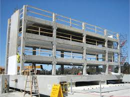 three story precast concrete parking