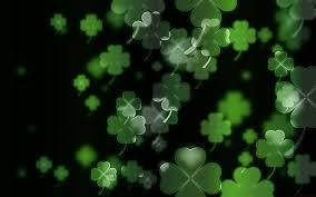 luck irish four leaf clover c