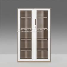 swing glass door filing storage cabinet