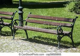 bench in park empty retro vintage