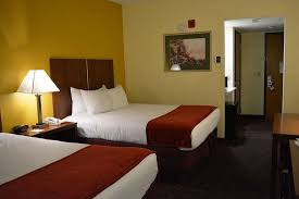 two queen bed guest room picture of