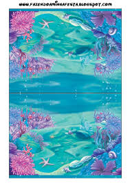 Imprimibles Bajo El Mar 3 Invitaciones De La Sirenita Fiestas