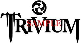 Amazon Com White Trivium Band Decal Logo Window New Sticker Automotive