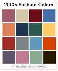 1930s fashion colors fabric