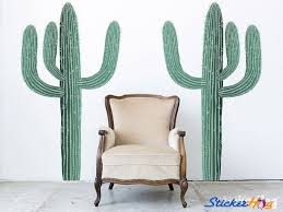 Cactus Desert Cacti Nature 2 Wall Decals Graphic Vinyl Sticker Bedroom Living Room Wall Home Decor