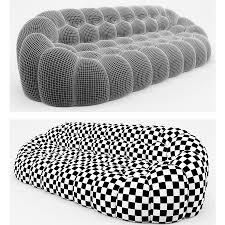 bubble sofa roche bobois 3d model 15
