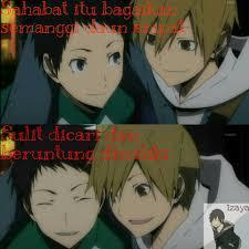 sahabat itu bagaikan semanggi daun meme quotes anime