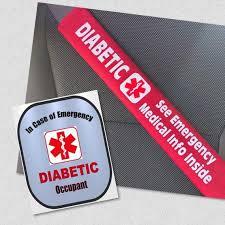Diabetic Safety Set Seat Belt Cover Diabetes Window Decal Set Etsy