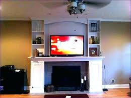 tv above gas fireplace wall mount