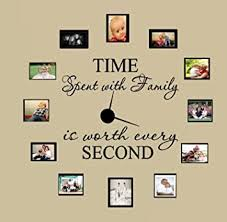 Time Spent With Family With Worth Every Second 3 Wall Decal Home Decor 6 Amazon Com