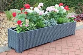 large wooden garden planter 150x32x33